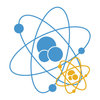 Blue and yellow atoms