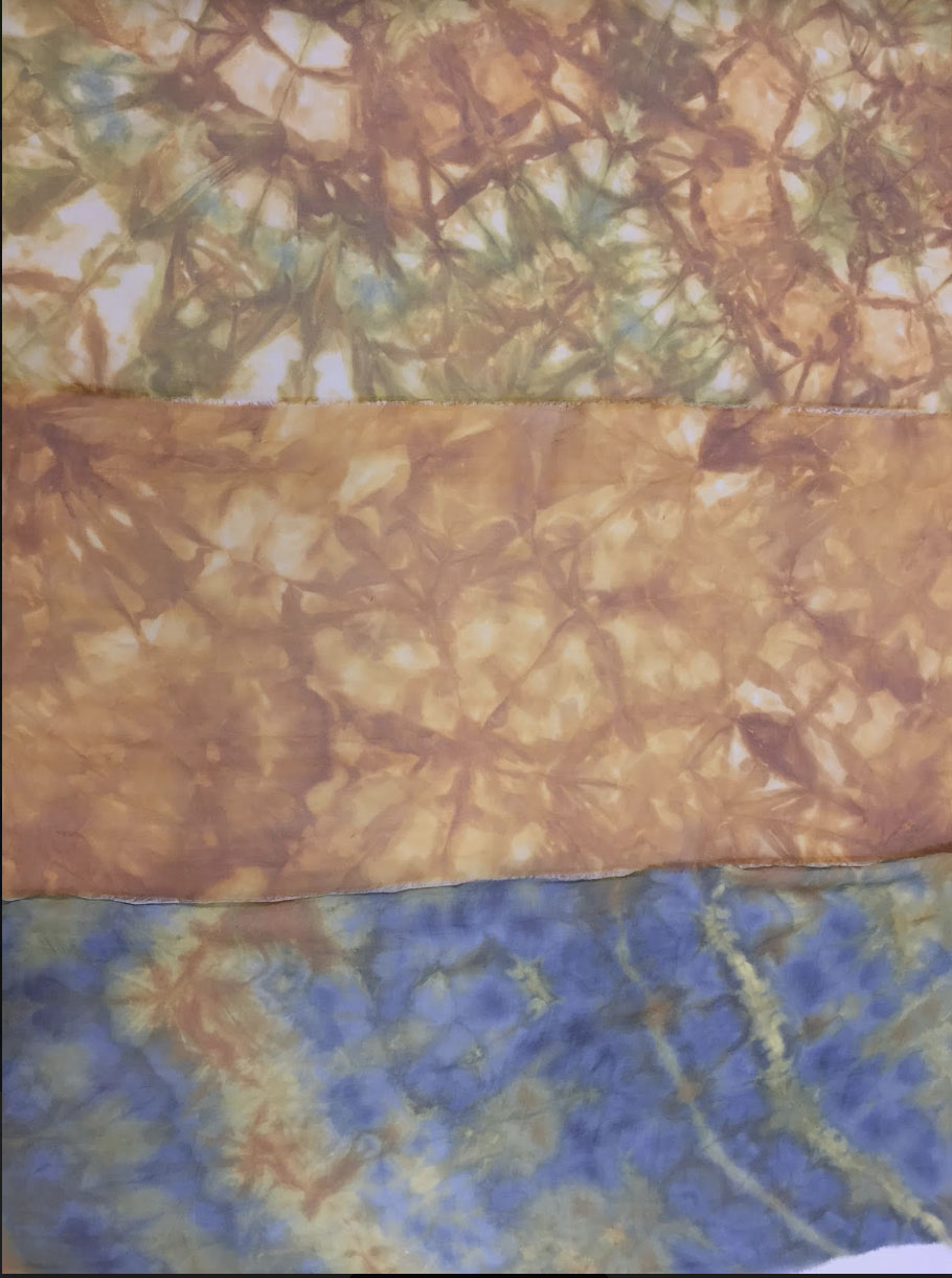 Felted and dyed textiles