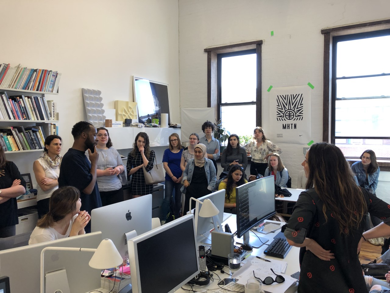 students visiting a studio in NYC