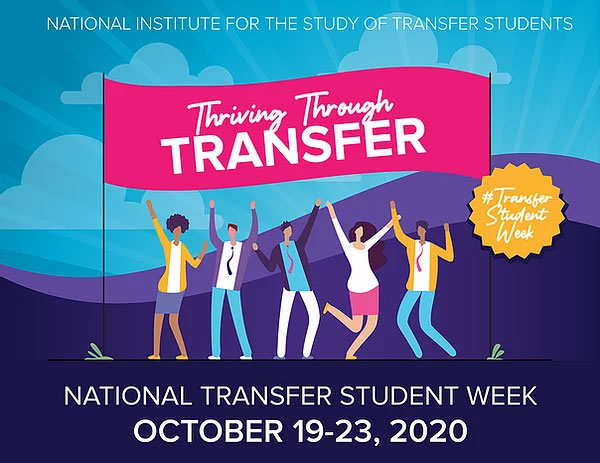 Transfer Week Banner Image. Main text says Thriving Through Transfer