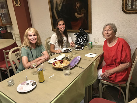 Steven R. Brown's daughters Robyn and Lexi, and wife Casey enjoy a tapas dinner during their final evening in Barcelona. While in Barcelona, the family visited the Picasso Museum and Gaudí's Basilica de Sagrada Familia.