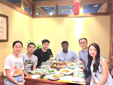 Dr. Nettery spends his final night in Beijing with former aeronautics students working for CAAC at Beijing Capital International Airport.