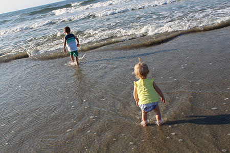 Kent State employees, Sierra Baker, health educator with the Office of Health Promotion, and Chris Baker, associate director, Recreational Services, had a wonderful vacation with their kids at Ocean Isle Beach, North Carolina.