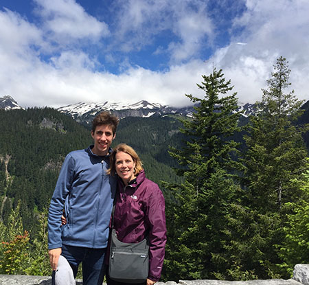 """Kathleen Norman, marketing, communication and public relations director for the College of Nursing, took what she describes as a """"trip of a lifetime"""" this summer to Mt. Rainier National Park with her oldest son."""