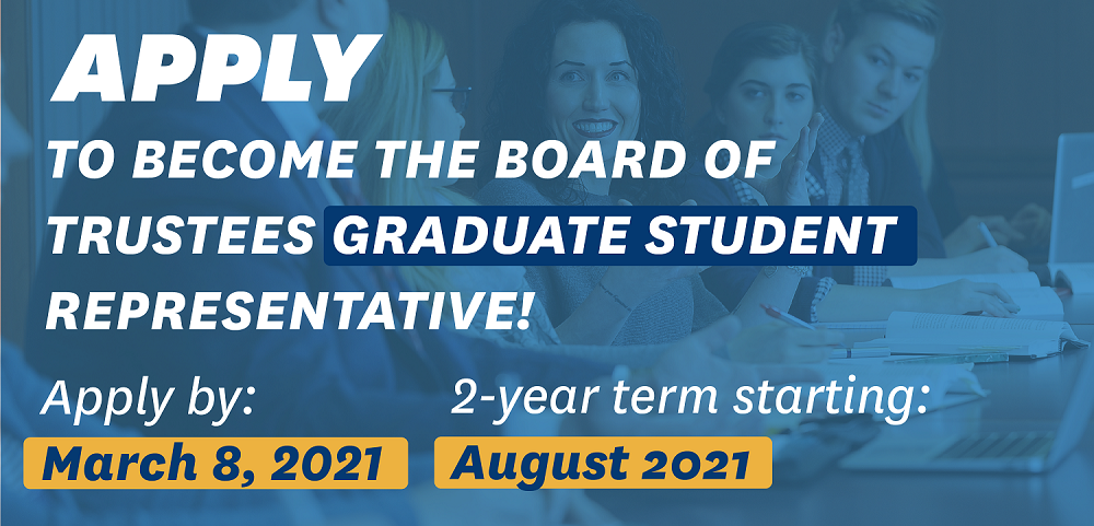 Apply to become the graduate student trustee