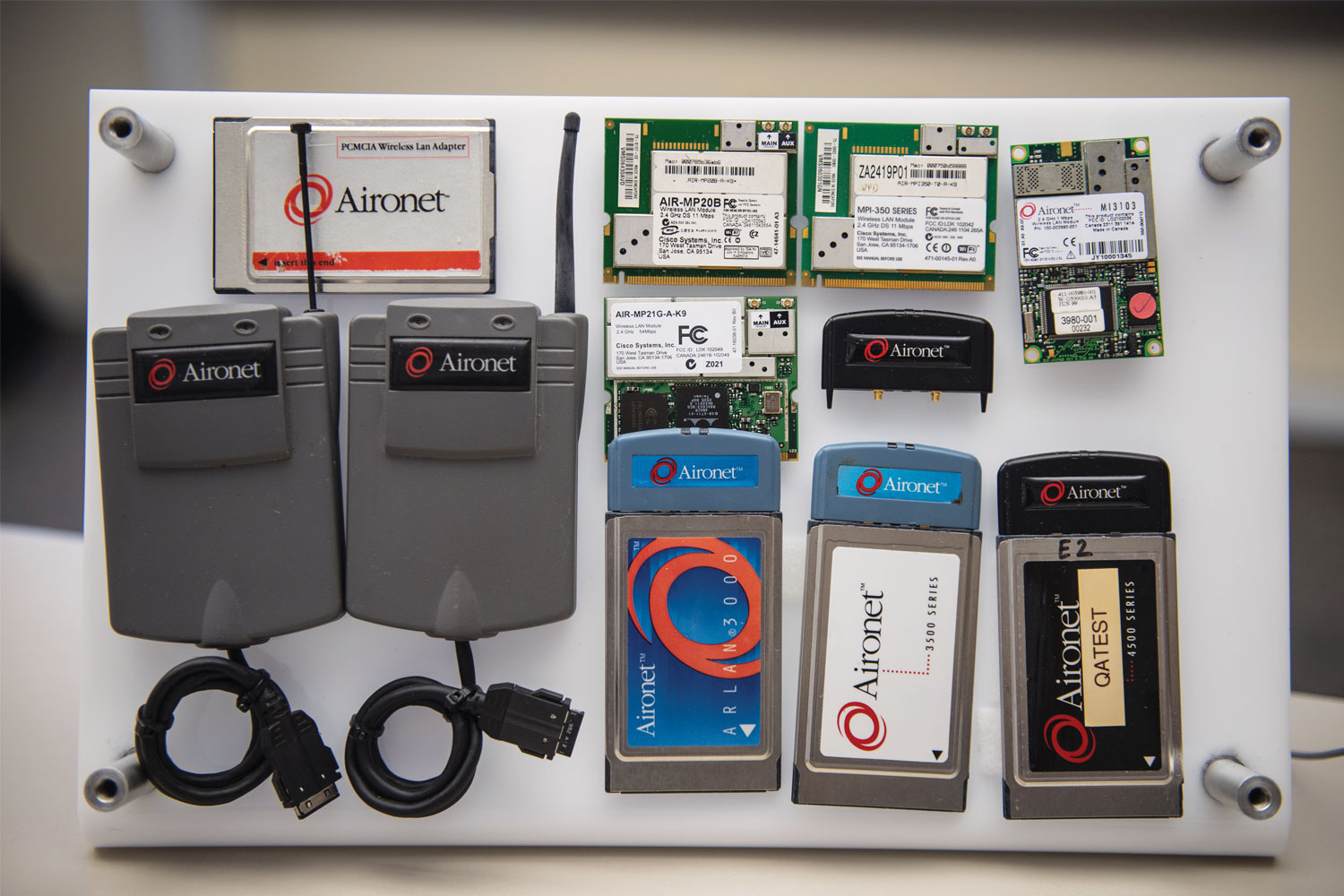 A sample of early models of Aironet wireless devices
