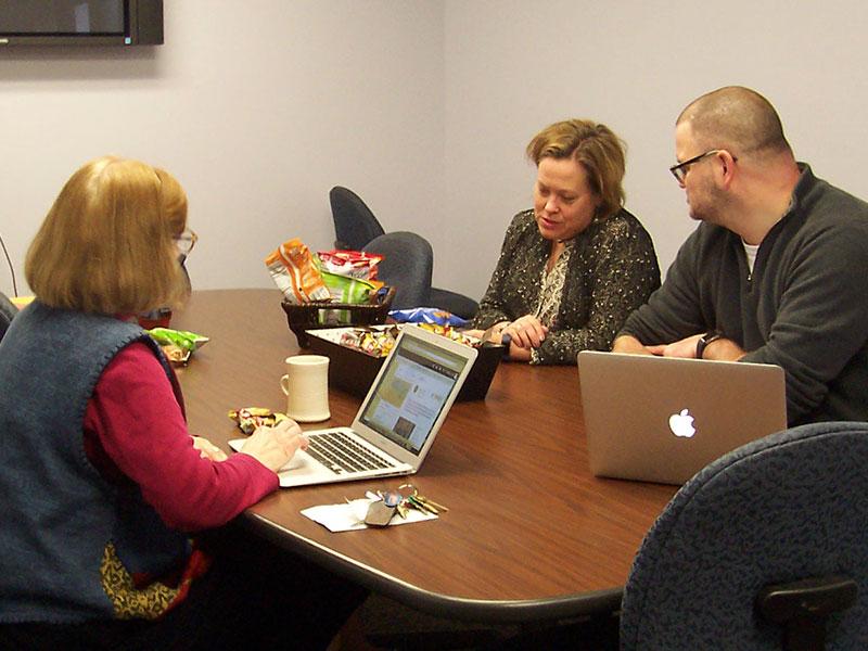 Dr. Caniglia, Dr. Kroeger, Dr. Hawley: Writing Week